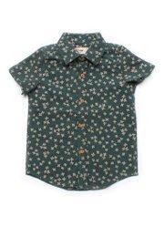 Floral Motif Short Sleeve Shirt GREEN (Boy's Shirt)