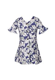 Floral Print Button Down Dress NAVY/GREY (Girl's Dress)