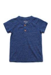 Classic Henley T-Shirt BLUE  (Boy's T-Shirt)