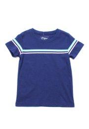 Pastel Twin Stripe T-Shirt NAVY (Boy's T-Shirt)