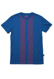 Floral Printed Twin Stripe T-Shirt BLUE (Men's T-Shirt)