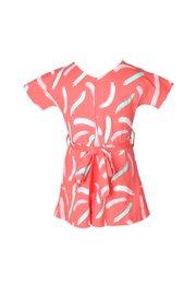 Pastel Paint Brush Print Flare Dress PINK (Girl's Dress)