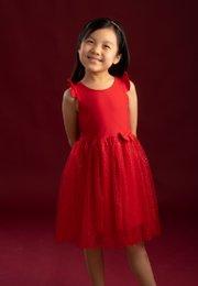 Glitter Bubble Dress RED (Girl's Dress)