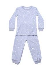 Stars and Moon Print Pyjamas Set GREY (Kids' Pyjamas)