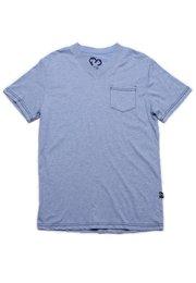 Contrast thread V-neck T-Shirt BLUE (Men's T-Shirt)