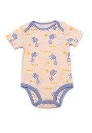 Elephant Print Romper ORANGE (Baby Romper)