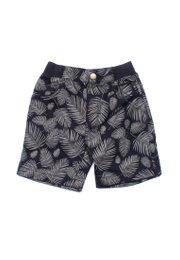 Botanical Print Shorts BLACK (Boy's Shorts)
