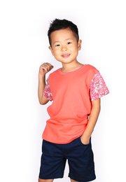 Japanese Wave Print T-Shirt PINK (Boy's T-Shirt)