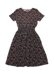 Floral Mesh Print Skater Dress BLACK (Ladies' Dress)