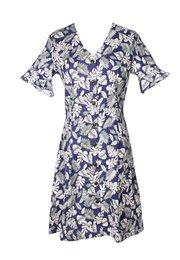 Floral Print Button Down Dress NAVY/GREY (Ladies' Dress)