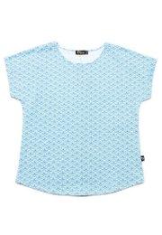 Seashell Print Blouse BLUE (Ladies' Top)
