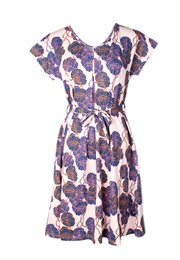 Neon Peony Print Nursing Flare Dress PINK (Ladies' Dress)