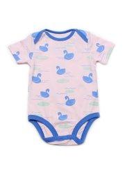 Swan Print Romper PINK (Baby Romper)