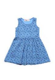 Floral Design Dress BLUE (Girl's Dress)