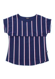 Shadow Stripes Nursing Blouse NAVY (Ladies' Top)
