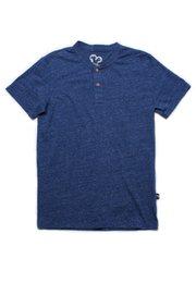 Classic Henley T-Shirt BLUE (Men's T-Shirt)