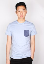 Faded Look Pocket T-Shirt BLUE (Men's T-Shirt)