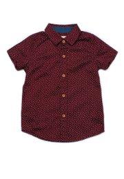 Sprinkle Print Short Sleeve Shirt RED (Boy's Shirt)