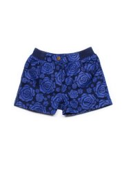 Rose Print Shorts NAVY (Girl's Bottom)