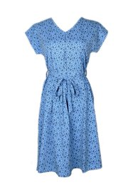 Floral Design Flare Dress BLUE (Ladies' Dress)