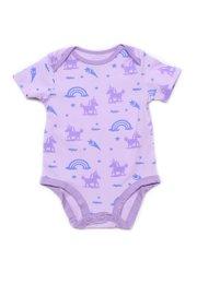 Unicorn Print Romper PURPLE (Baby Romper)