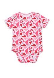 Geometric Triangles Print Romper RED (Baby Romper)