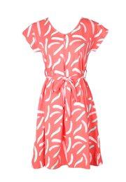 Pastel Paint Brush Print Nursing Flare Dress PINK (Ladies' Dress)