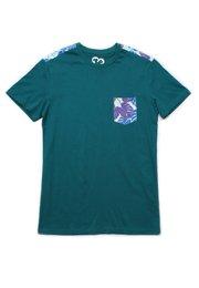 Neon Botanical Print T-Shirt TURQUOISE (Men's T-Shirt)