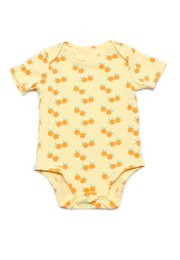 Mandarin Orange Print Romper YELLOW (Baby Romper)