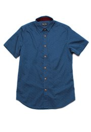 Sprinkle Print Short Sleeve Shirt NAVY (Men's Shirt)