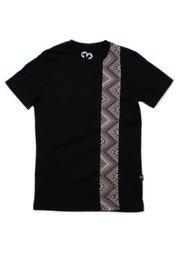 Aztec Stripe Print T-Shirt BLACK (Men's T-Shirt)