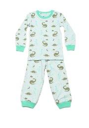 Dinosaur Print Pyjamas Set GREEN  (Kids' Pyjamas)