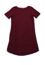 Floral Lace Shift Dress RED (Ladies' Dress)