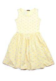 Swans Print Skater Dress YELLOW (Ladies' Dress)