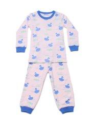 Swan Print Pyjamas Set PINK (Kids' Pyjamas)