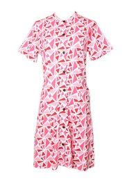 Geometric Triangles Print Button Down Dress RED (Ladies' Dress)