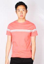Pastel Twin Stripe T-Shirt PINK (Men's T-Shirt)