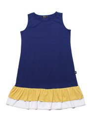 Tiered Ruffle Sleeveless Shift Dress NAVY (Ladies' Dress)
