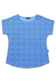 Floral Design Print Blouse BLUE (Ladies' Top)