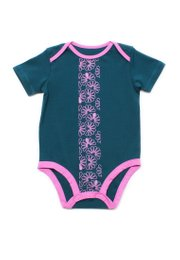 Floral Patterned Print Romper TURQUOISE (Baby Romper)