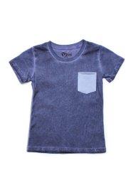 Faded Look Pocket T-Shirt NAVY (Boy's T-Shirt)