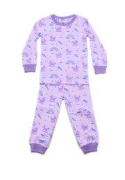 Unicorn Print Pyjamas Set PURPLE  (Kids' Pyjamas)
