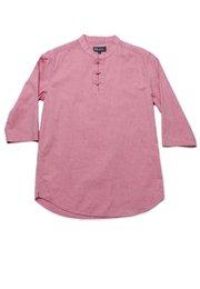 Oriental Style 3/4 Sleeve Shirt RED (Men's Shirt)