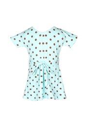 Polka Dot Print Flare Dress BABYBLUE (Girl's Dress)