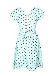 Polka Dot Print Flare Dress BABYBLUE (Ladies' Dress)