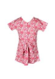 Japanese Wave Print Flare Dress PINK (Girl's Dress)