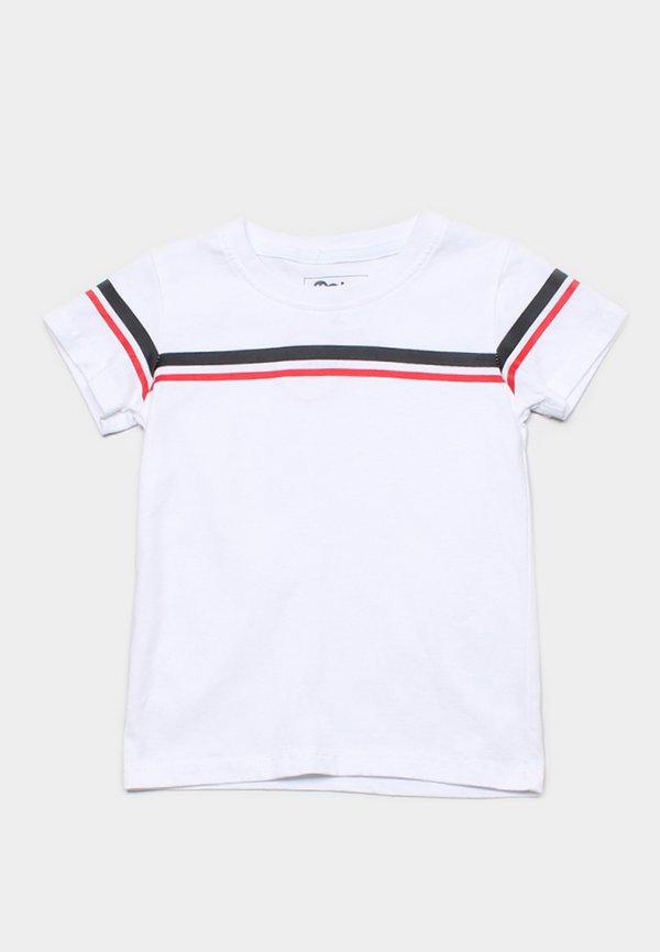 Twin Stripe T-Shirt WHITE (Boy's T-Shirt)