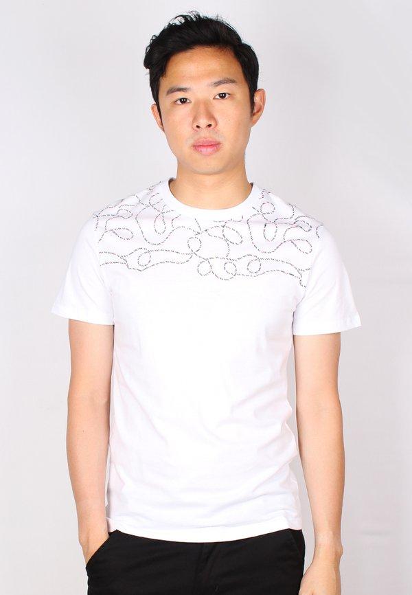 Rope Print T-Shirt WHITE (Men's T-Shirt)