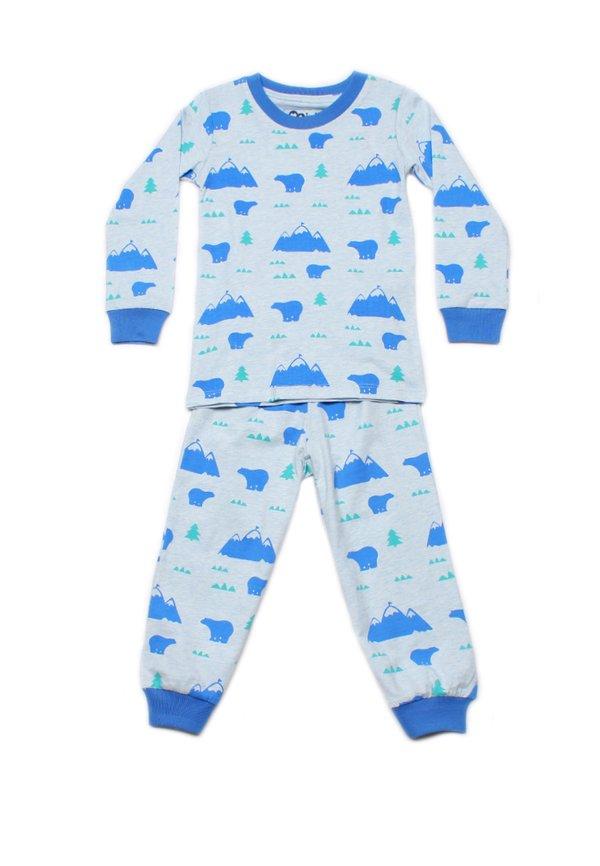Polar Bear Print Pyjamas Set BLUE (Kids' Pyjamas)