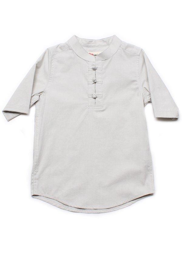 Oriental Style 3/4 Sleeve Shirt CREAM (Boy's Shirt)